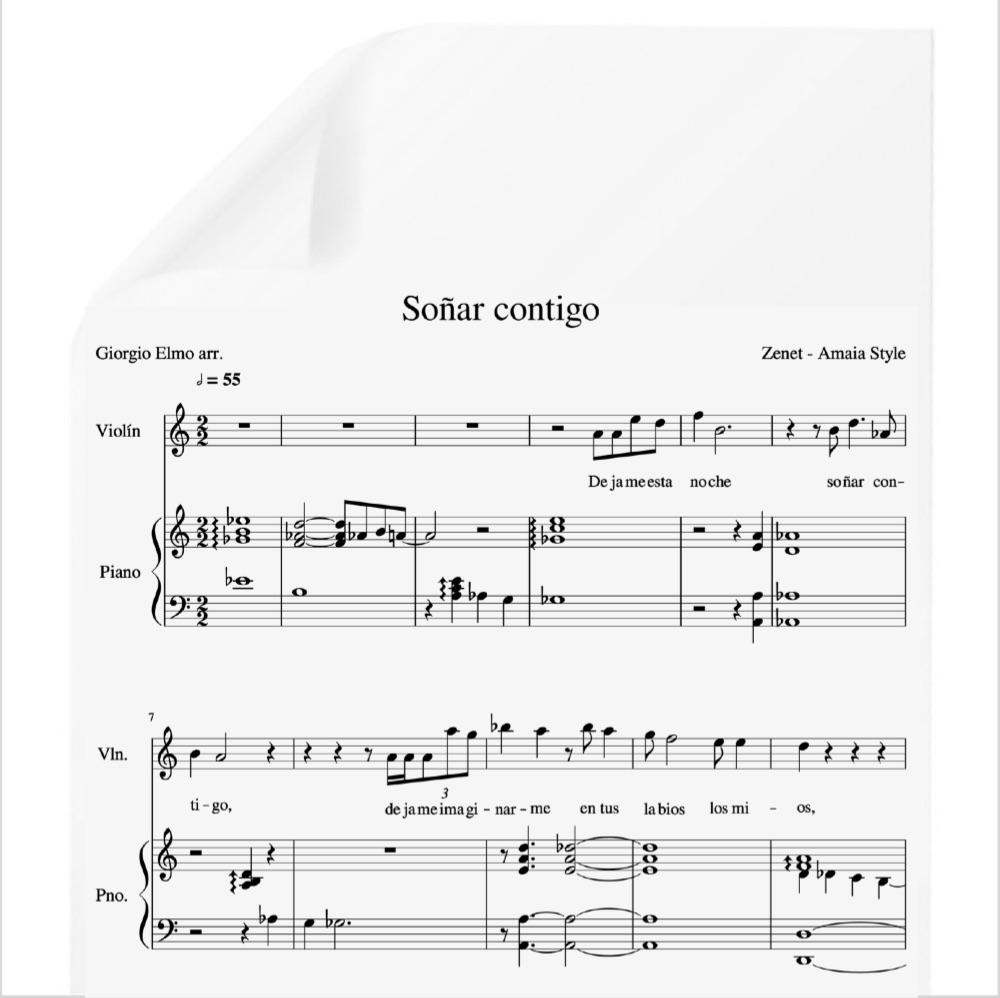 Soñar Contigo Amaia Zenet Ot 2017 Pdf Partitura Piano Y Voz Arr By Giorgio Elmo