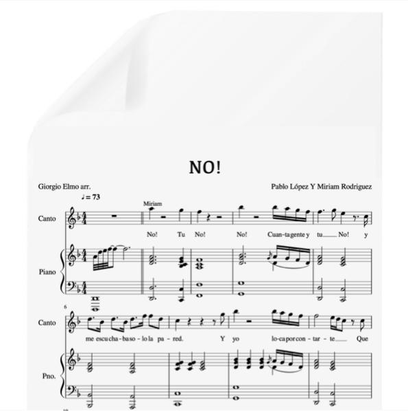 No Pablo López Miriam Rodríguez Pdf Partitura Piano Y Voz Arr By Giorgio Elmo